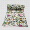 Hand Quilted Kantha Work Printed Bed Cover