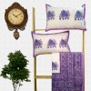 Block Print Floral Double bed Sheet with Pillow